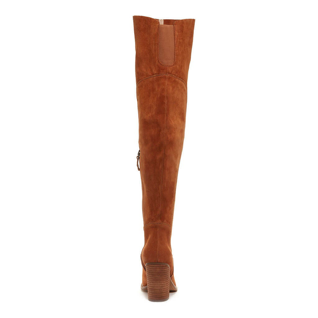 Logan Chestnut Wide Calf Boot
