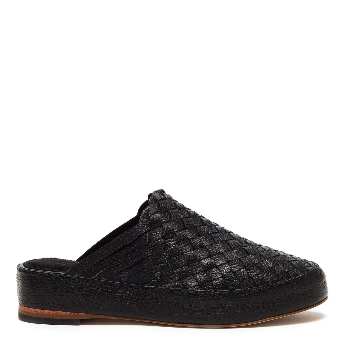 Maple Black Woven Clog