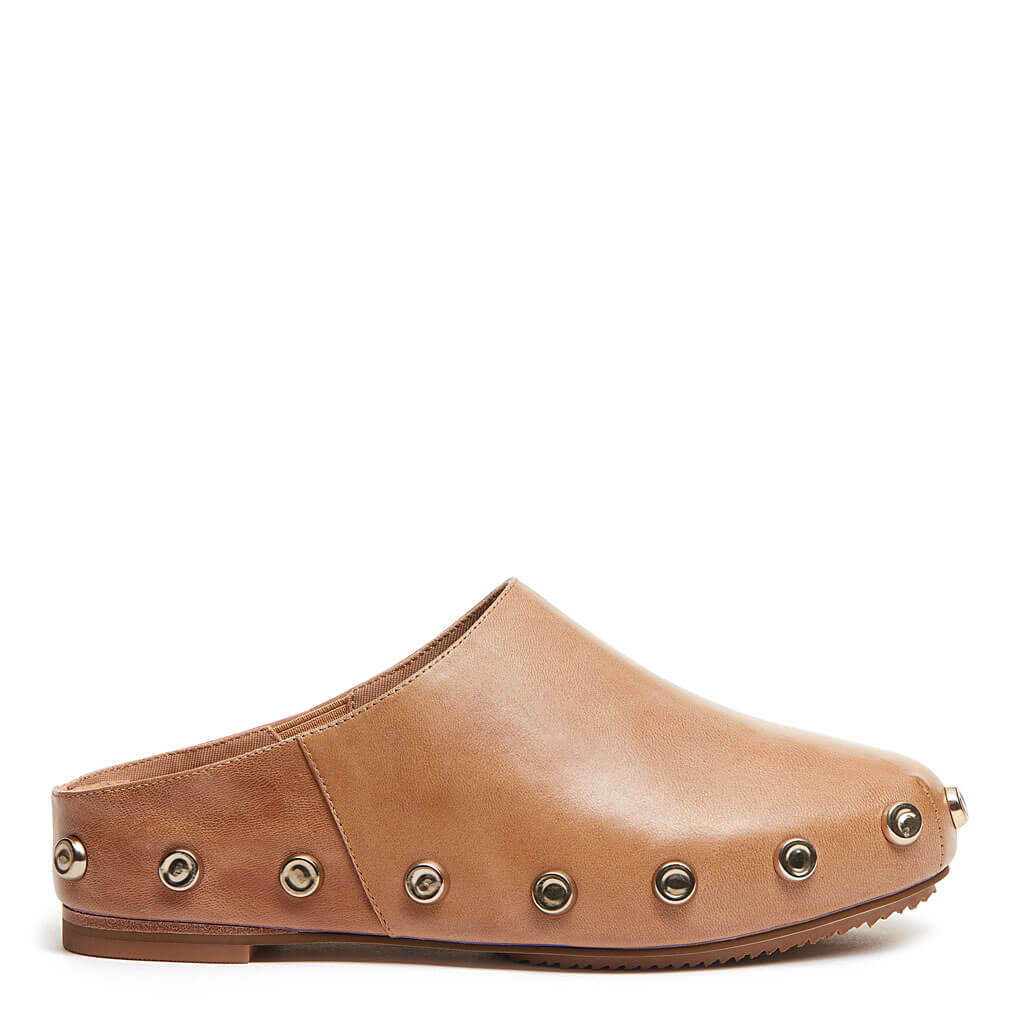 Market Tan Leather Clog