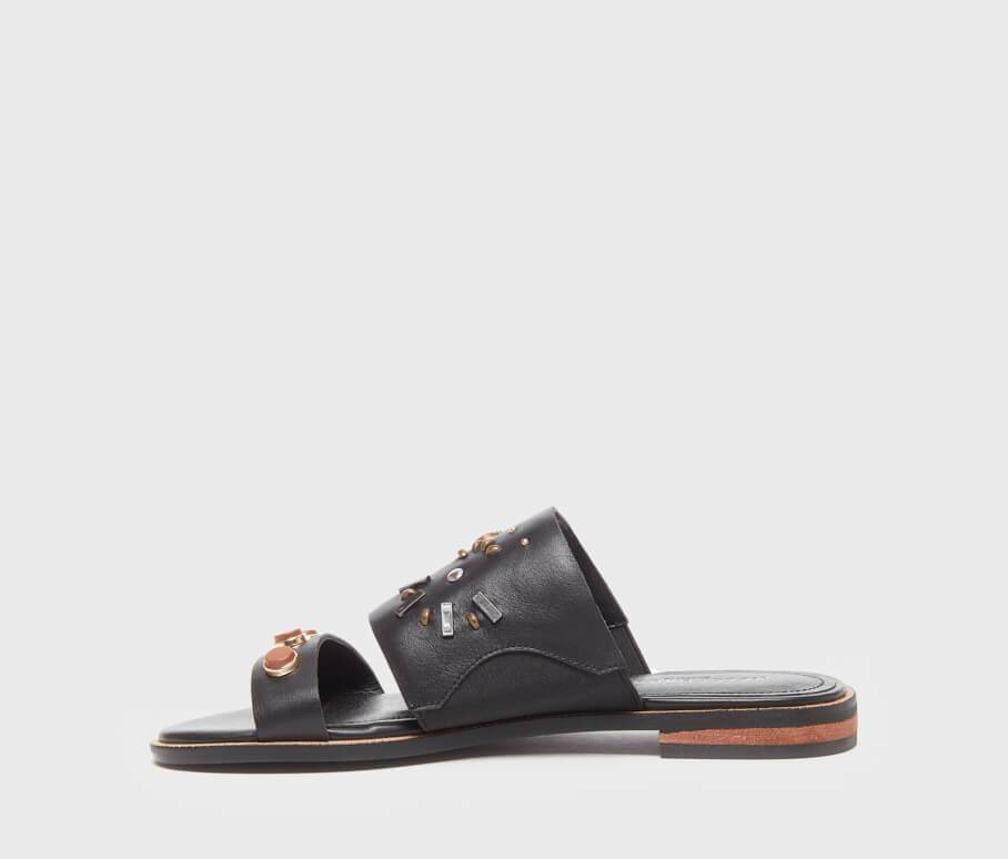 Kelsi Dagger BK® Raven Black Leather Sandal