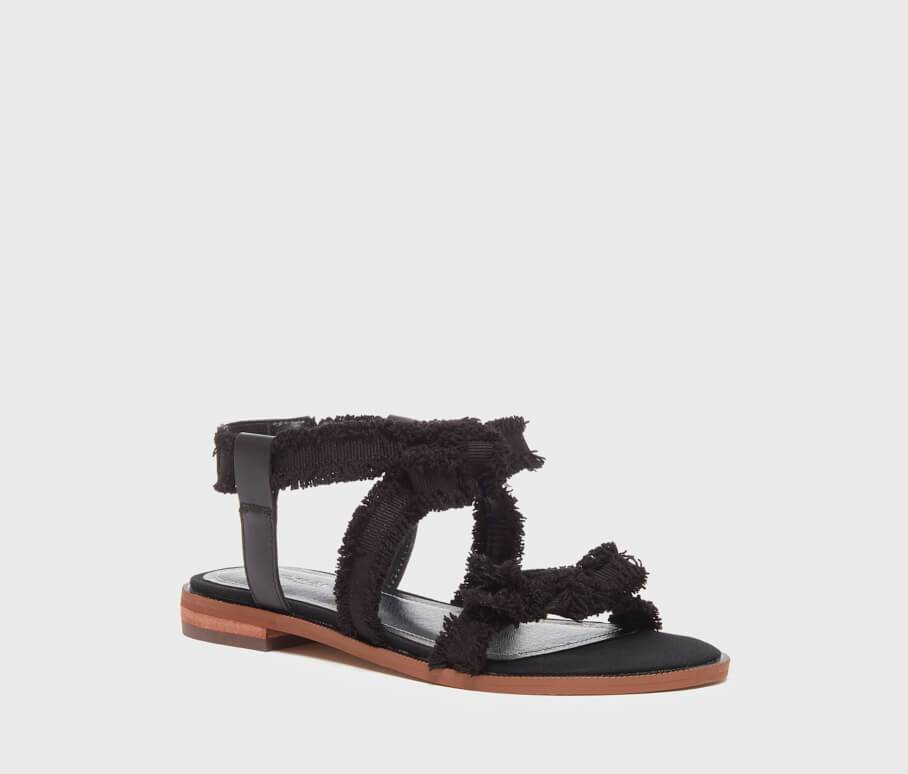 Kelsi Dagger BK® Reggie Black Leather Sandal