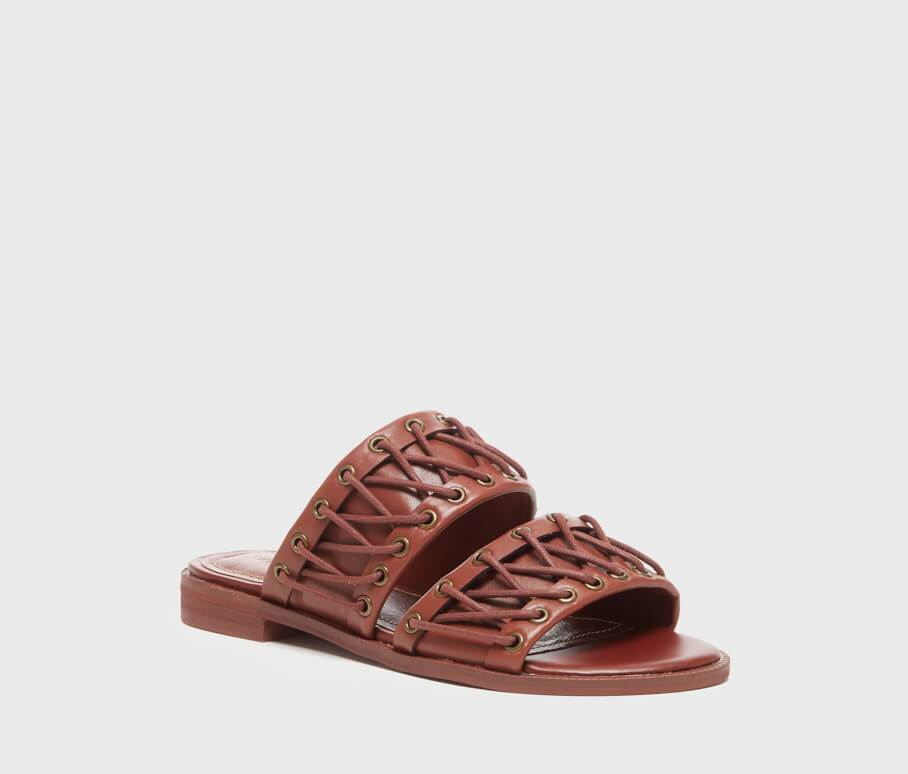 Rio Brown Laced Women's Slip On