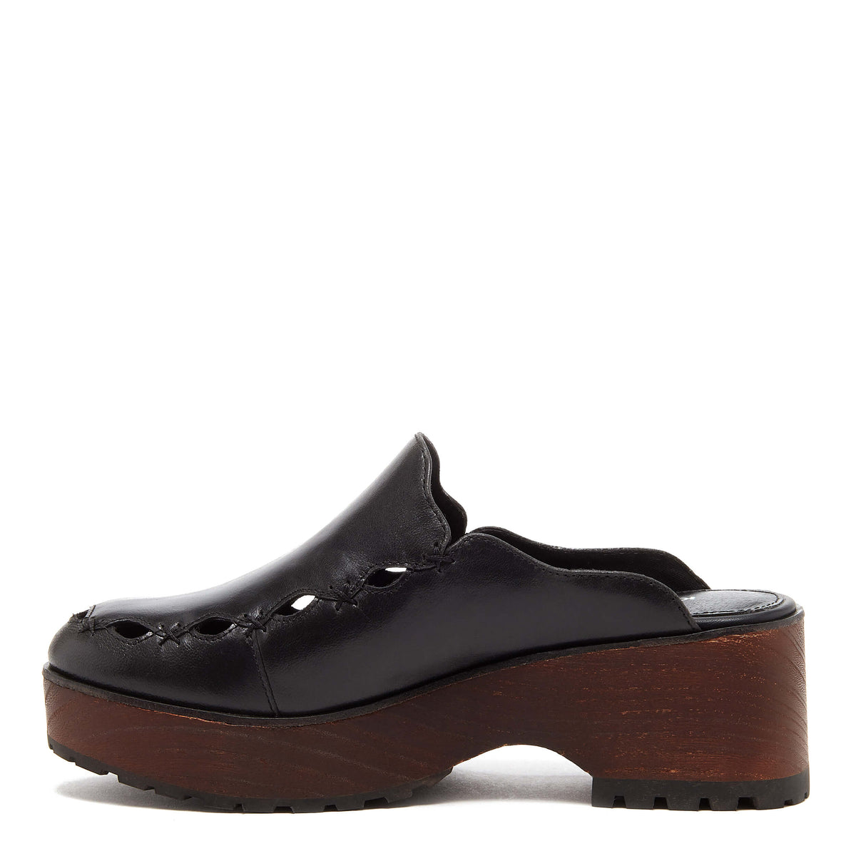 Kelsi Dagger BK® Wells Black Wood Clog