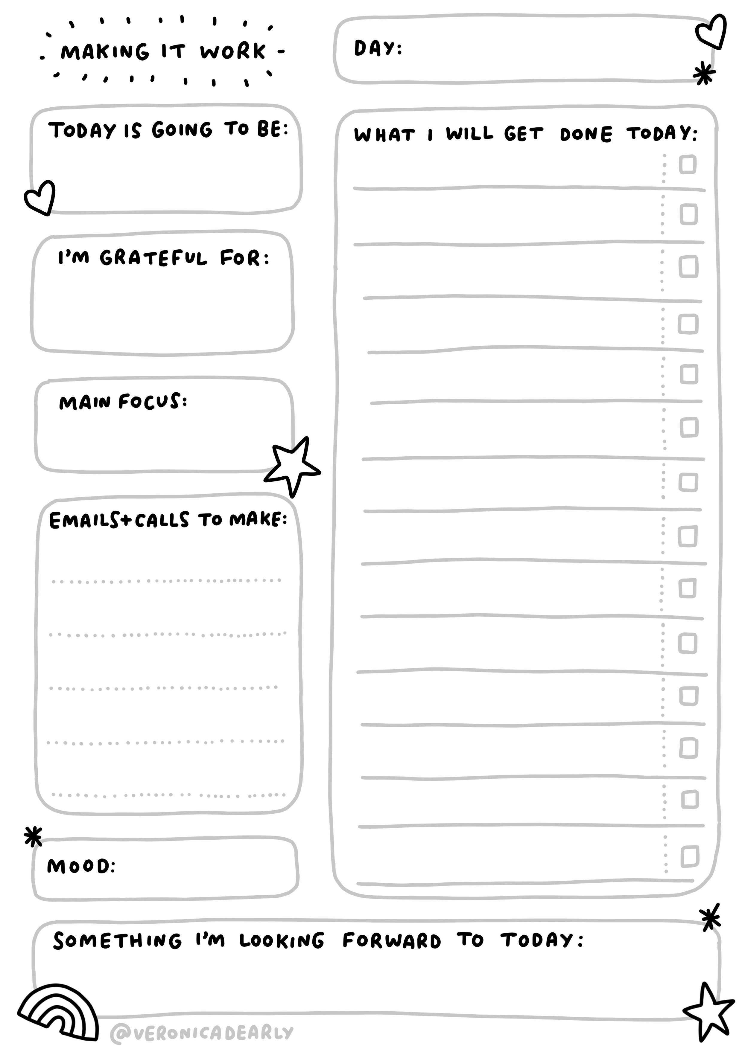 Making it Work   Working From Home To Do List Printable – Veronica ...