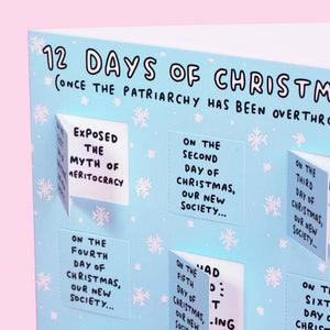 12 Days of Christmas (Once the Patriarchy has been Overthrown) Lovely Flaps Christmas Card