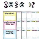 PRE-ORDER A1 2020 Wall Planner - The Planner That Wants You To Have A Lovely Day