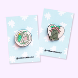 Jingle All the Way Away With Your Negativity Pro-Christmas Enamel Glitter Pin