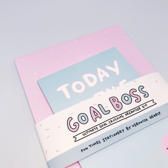 Goal Boss Desk Pad Productivity Kit