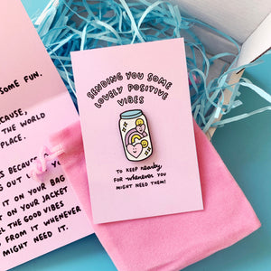 Sending Some Lovely Positive Vibes Sparkly Pin Gift Set