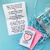 Sending Lots of Lovely Love Sparkly Heart Pin Gift Set
