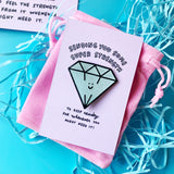 Sending Lots of Super Strength Sparkly Diamond Pin Gift Set