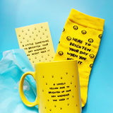 A Yellow Mug AND Socks To Brighten Up Your Day Gift Set