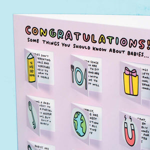 Congratulations Some Things You Should Know About Babies Lovely Flaps Greetings Card