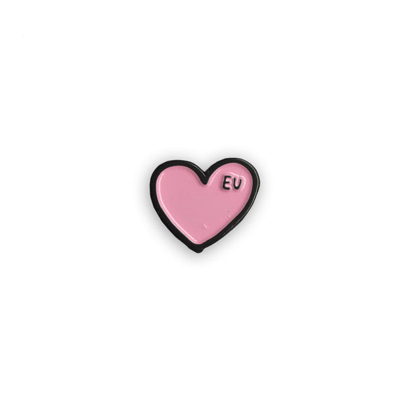EU Heart Pin