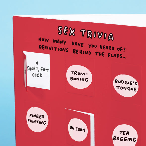 Sex Trivia Funny Lovely Flaps Greetings Card