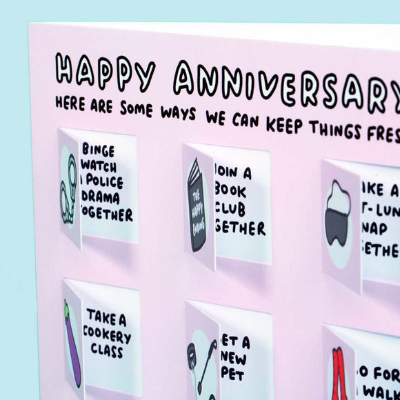 Ways You Can Keep Things Fresh Funny Anniversary Lovely Flaps Card
