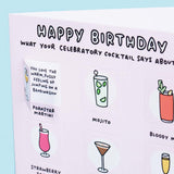 Happy Birthday - What Your Cocktail Choice Says About You Funny Lovely Flaps Card