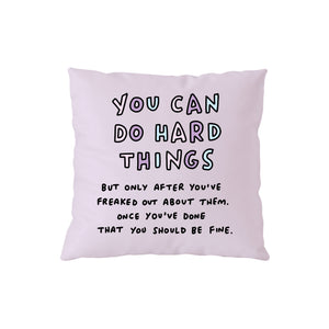 You Can Do Hard Things Purple Cushion