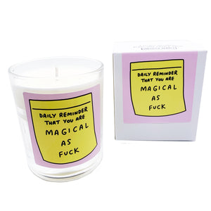 Daily Reminder That You Are Magical As Fuck Votive Boxed Candle