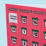Merry F****** Christmas Advent Calendar of Festive Swear Words & Insults Funny Flaps Card