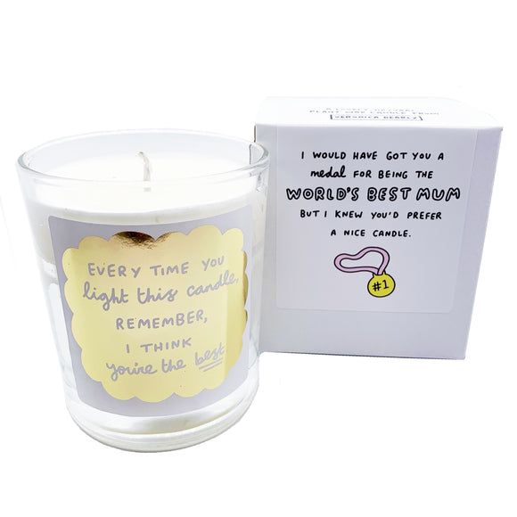 World's Best Mum (Instead of a Medal) Votive Boxed Candle