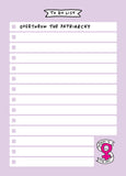 Overthrow The Patriarchy A5 To Do List Notepad