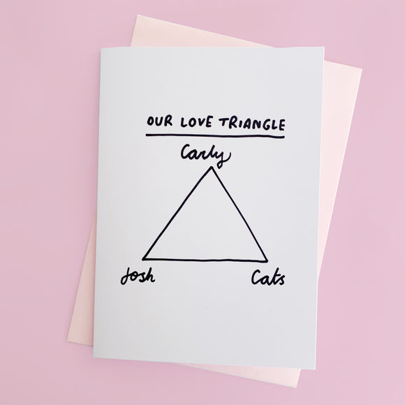 Hand Drawn Love Triangle Valentine's Day A5 Card