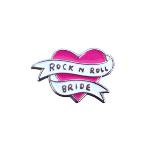 Rock n Roll Bride Enamel Pin