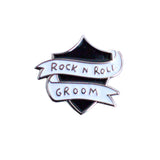 Rock n Roll Groom Enamel Pin