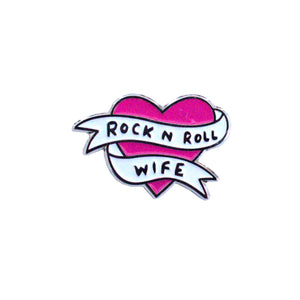 Rock n Roll Wife Enamel Pin