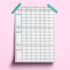 A2 Quarterly/90 Day Wall Planner