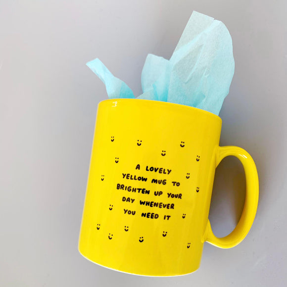 Send A Lovely Yellow Mug to Brighten Someones Day