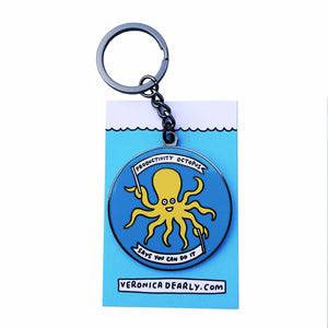 You Can Do It Octopus Key Ring