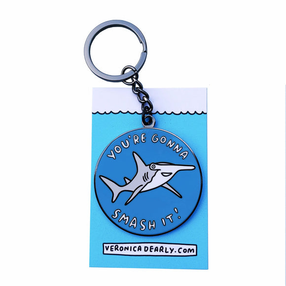 You're Gonna Smash It Hammerhead Shark Key Ring