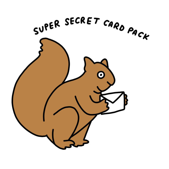Lucky Dip Super Secret Birthday Card Pack of 6