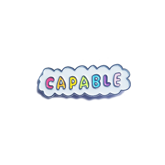 Capable Cloud Enamel Pin Badge