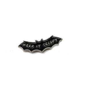 Keep It Creepy Bat Shaped Soft Enamel Pin Badge
