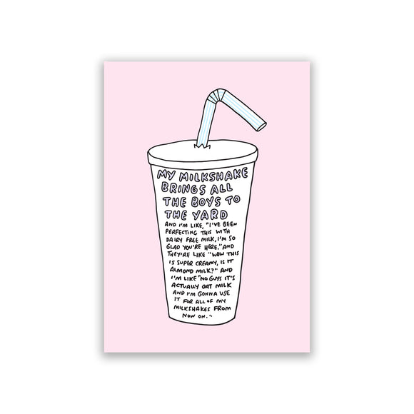 My Milkshake Pink Art Print by Veronica Dearly - Frame & Size Options