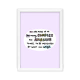 You Are Made Up Of Too Many Lilac Art Print by Veronica Dearly - Frame & Size Options
