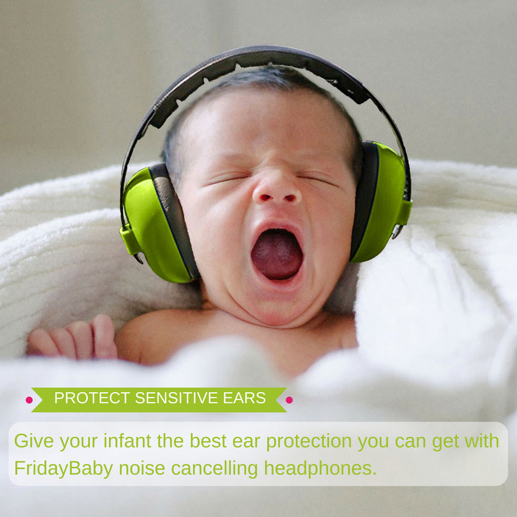 9347c473352 Baby Ear Protection - Noise Cancelling Headphones for Babies – Friday Baby