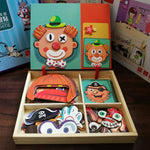 Magnetic Imagination Puzzle Toy Wooden Box - Preschool Education Toys