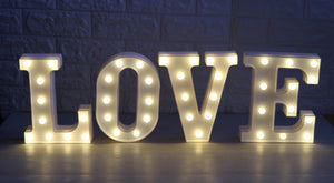 26 Letters White Led Decorative Lights