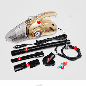 4 in 1 Car Gold Vacuum Cleaner