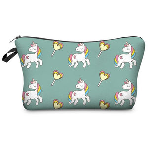 Multi Pattern Unicorn Cosmetic Bag