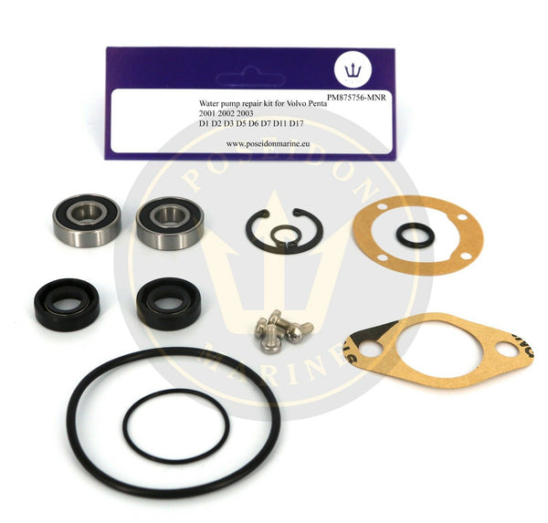 Raw water pump repair kit for Volvo Penta 2001 2002 2003 MD7 similar to 875756