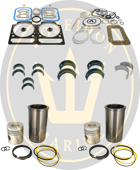 Engine rebuilt kit for Volvo Penta marine diesel MD11 RO: 875549 876376 876384 875483 875484 875491