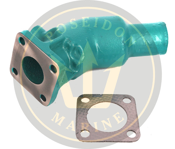 Exhaust Elbow for Volvo Penta Diesel, replaces : 861906 21190094 MD2010 MD2020 MD2030 MD2040 D1-13 D1-20 D2-40