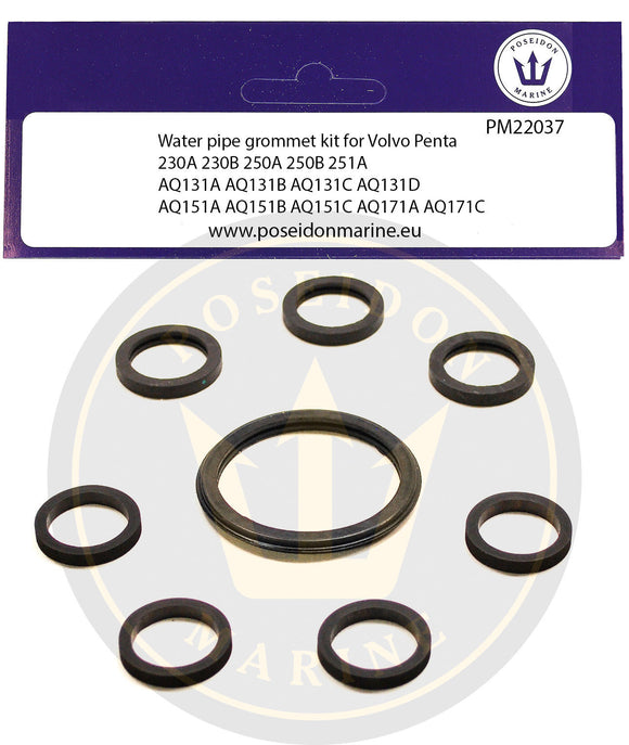 Cooling Pipe gaskets for Volvo Penta 230A 230B AQ131 AQ151 AQ171 Water Pipe 18-3889