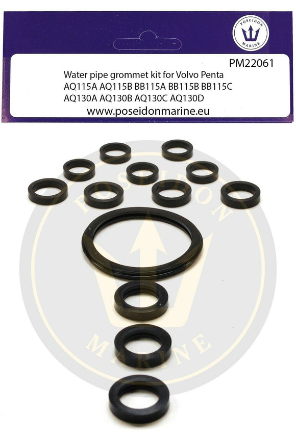 Cooling Pipe gaskets for Volvo Penta AQ115A AQ115B AQ130A B C D Water Pipe 18-0590