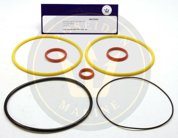 Cylinder liner seal kit for Volvo Penta MD11C MD11D MD17C MD17D RO : 875550